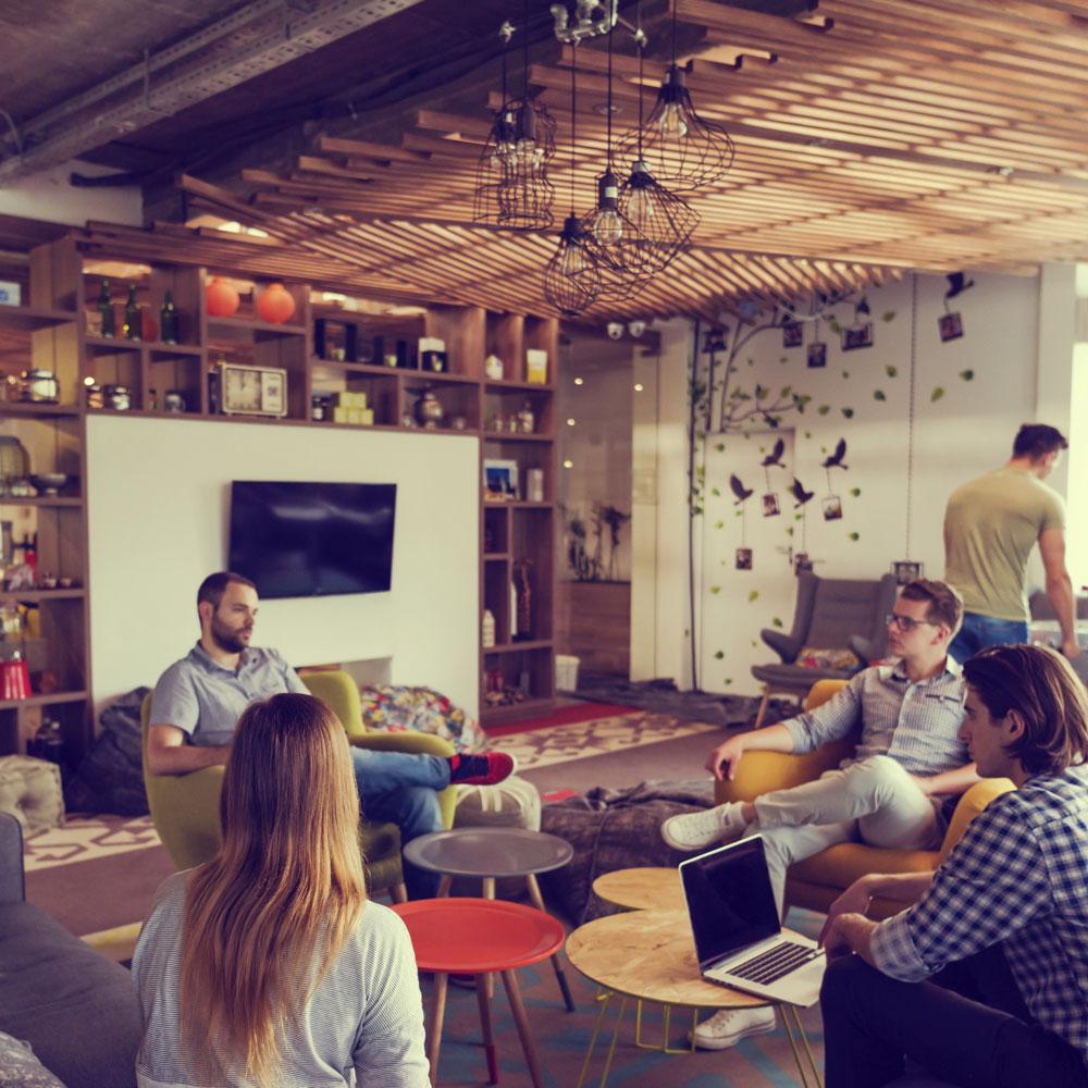 Team office lounge wood
